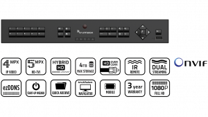Enregistreur HD-TVI 4 voies