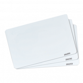CARTE PVC BLANCHE SECURE (x10)